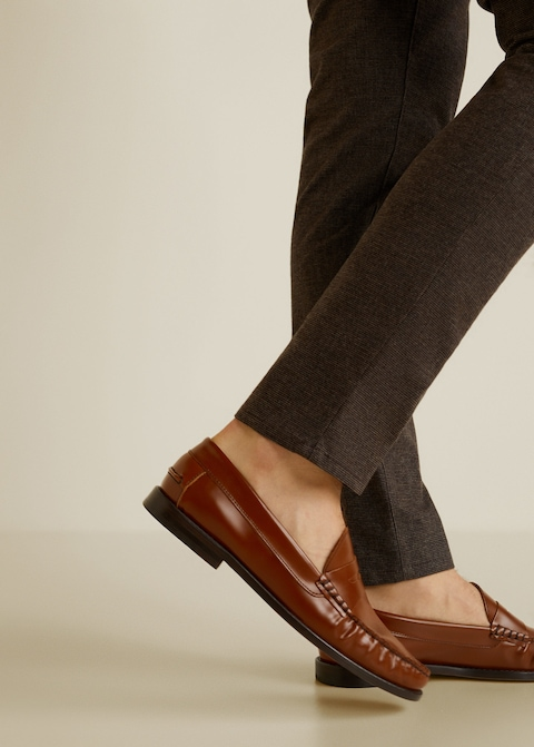Fur patent loafers $149.99