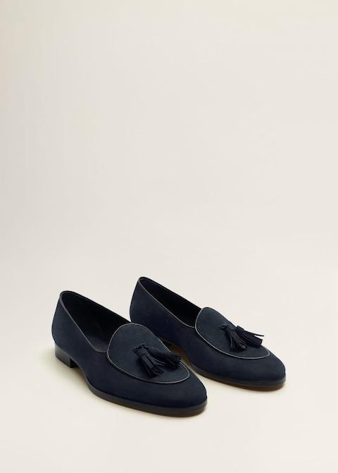 Tassel suede loafers $139.99