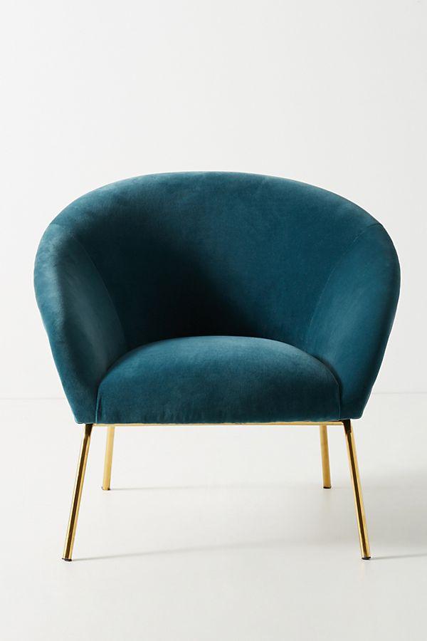 Velvet Hillside Accent Chair $499.95
