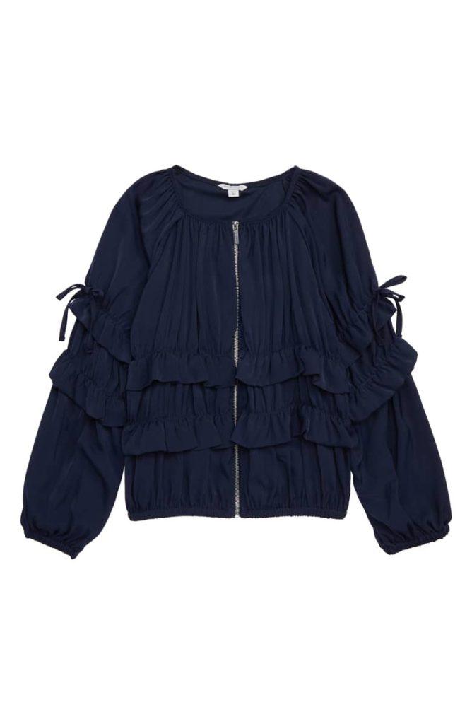 Maribelle Ruffle Jacket HABITUAL $60.00