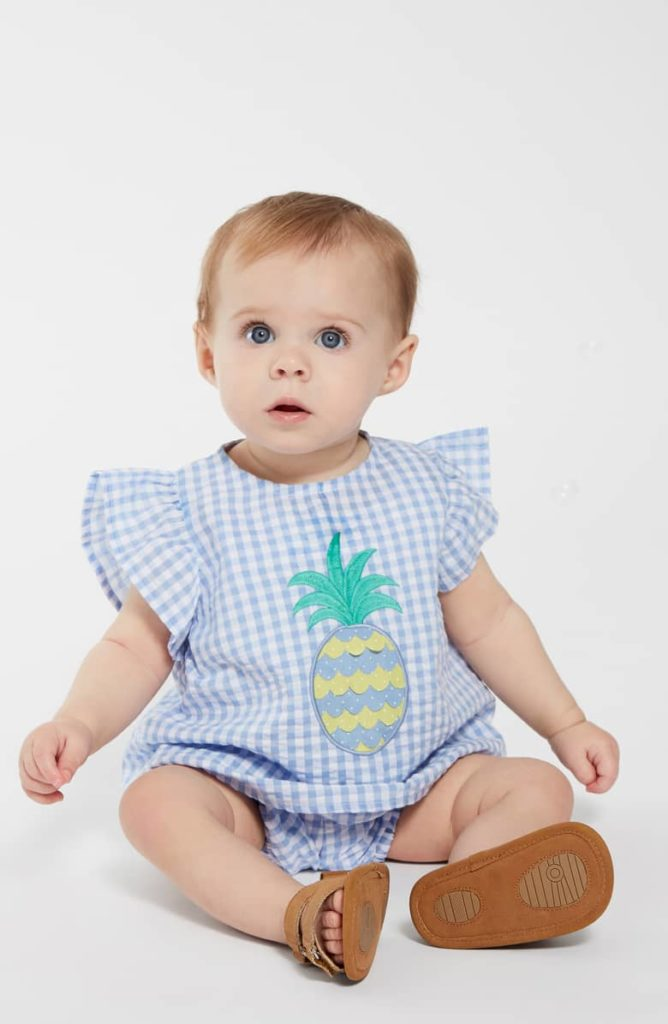 Pineapple Appliqué Gingham Top SEED HERITAGE $25.00