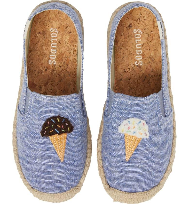 Ice Cream Embroidered Espadrille SOLUDOS $44.95