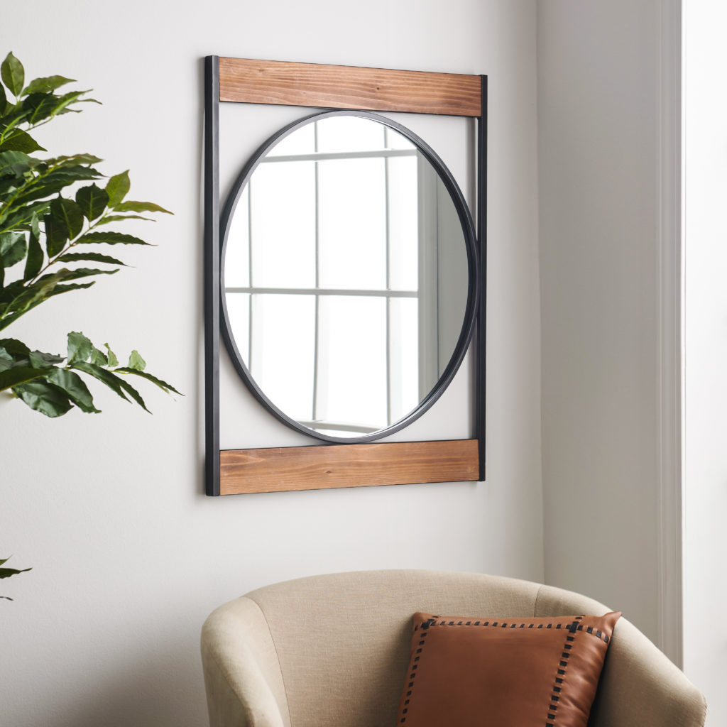 MoDRN Industrial Metal Wall Mirror $69.00