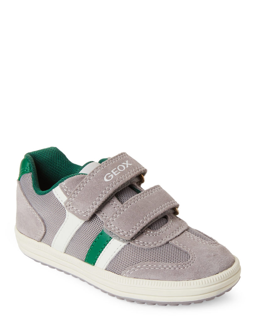 GEOX RESPIRA (Kids Boys) Grey & Green Vita Low-Top Sneakers $39.99