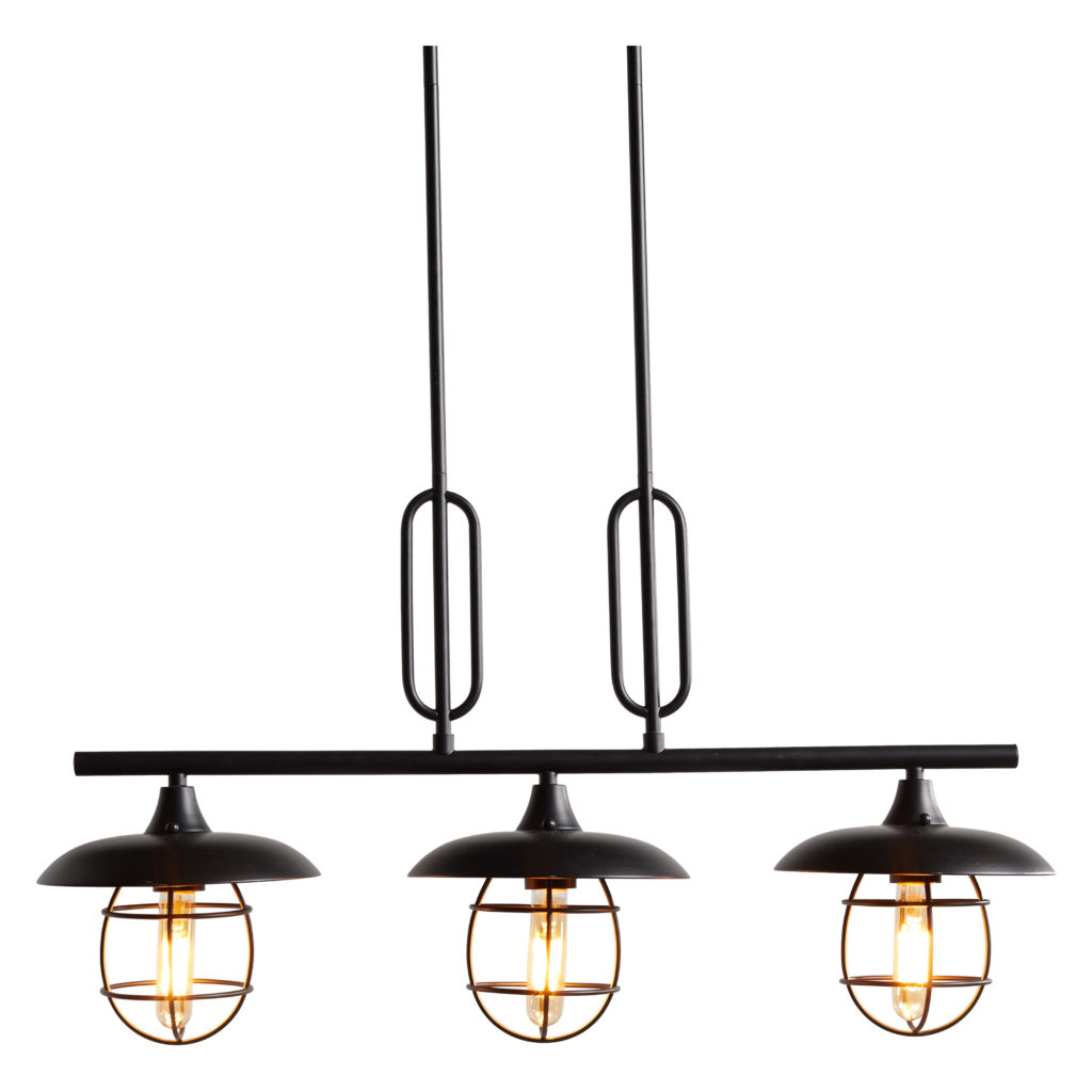 Industrial Metal Wire 3 Light Island Pendant Black Finish $119.00