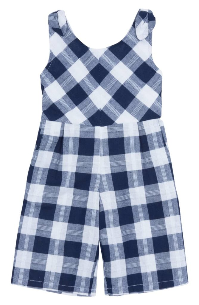 Janice Plaid Romper HABITUAL GIRL $48.00