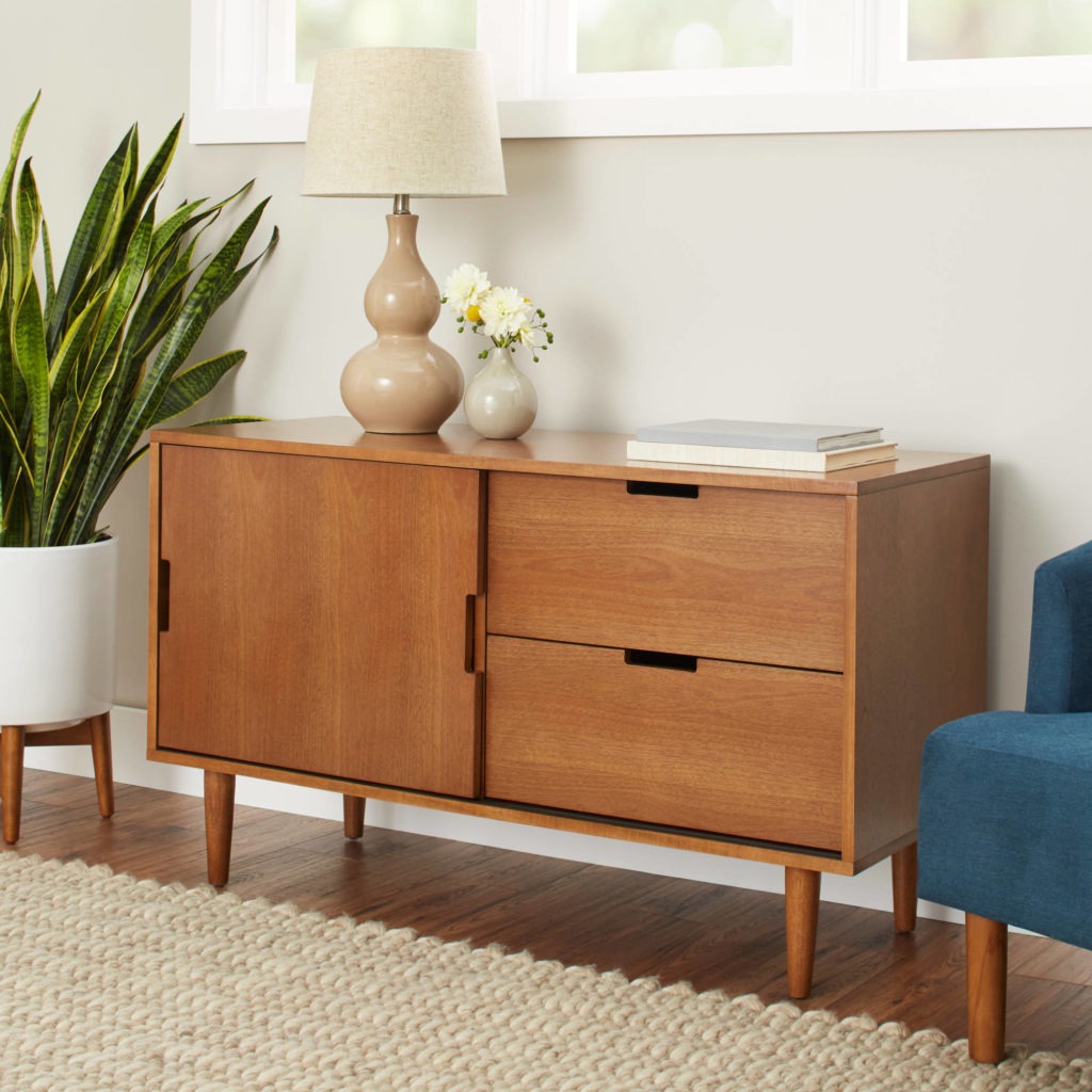 Better Homes and Gardens Flynn Mid Century Modern Credenza, $185.00