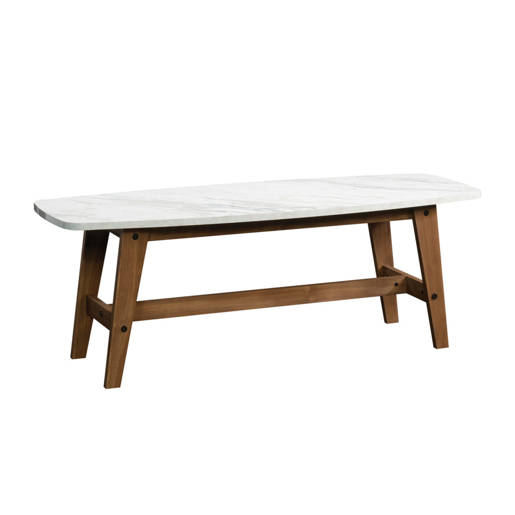 Sauder Harvey Park Coffee Table, Faux Carrara Marble Finish $74.40