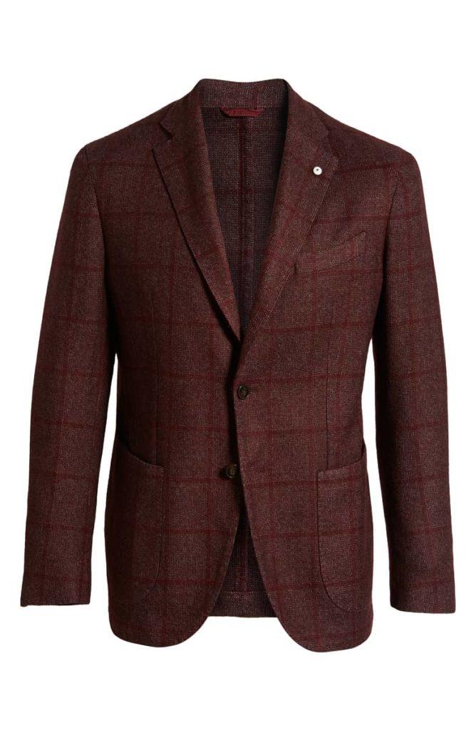 L.B.M 1911 Classic Fit Windowpane Wool  $895.00