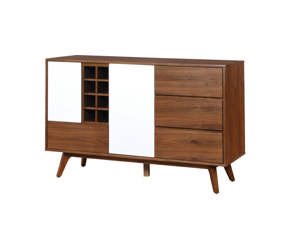 Furniture of America Hanny Mid-Century Dining Buffet, Oak & White $695.31