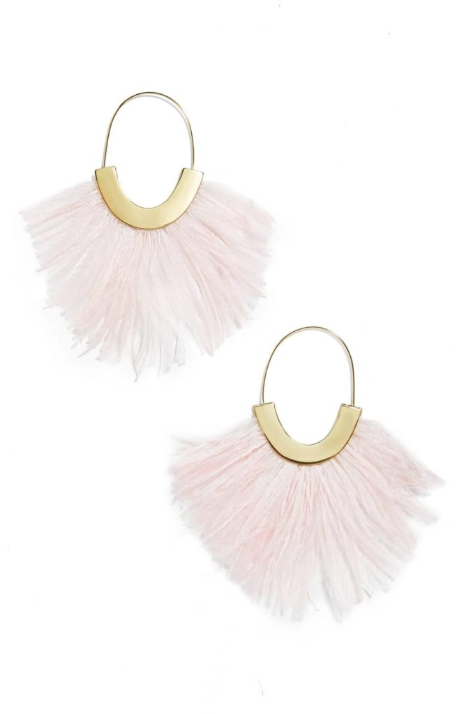 Feather Faidra Hoop Earrings BAUBLEBAR $48.00