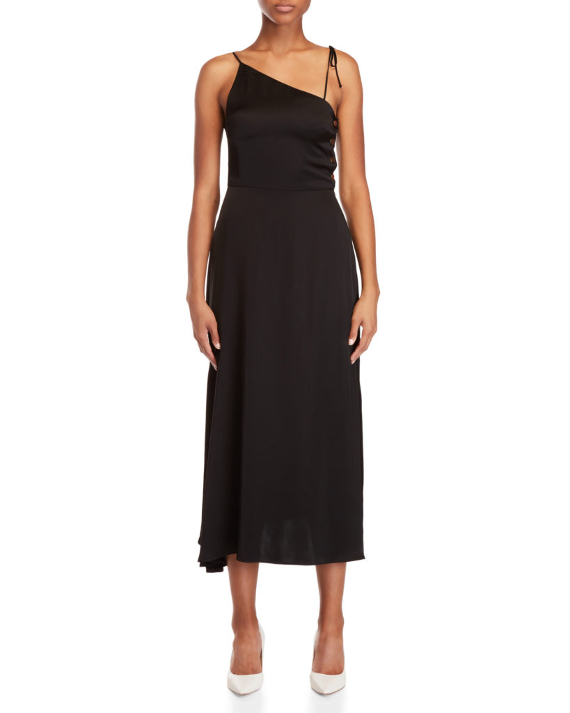 ALYSI Black Satin Maxi Dress $149.99