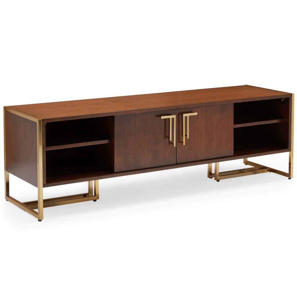 MoDRN Glam Marion Sleigh Base Media Console $499.00