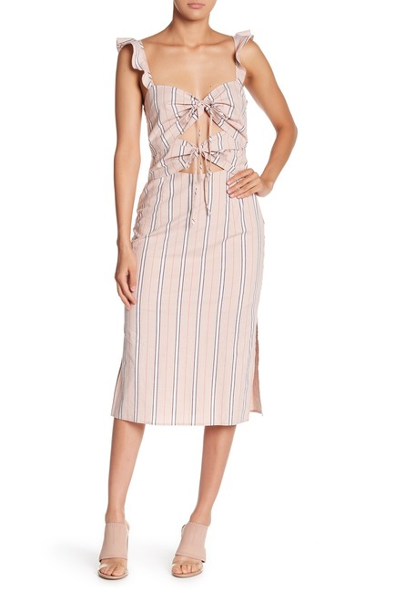 WAYF Cutout Print Midi Dress $42.97