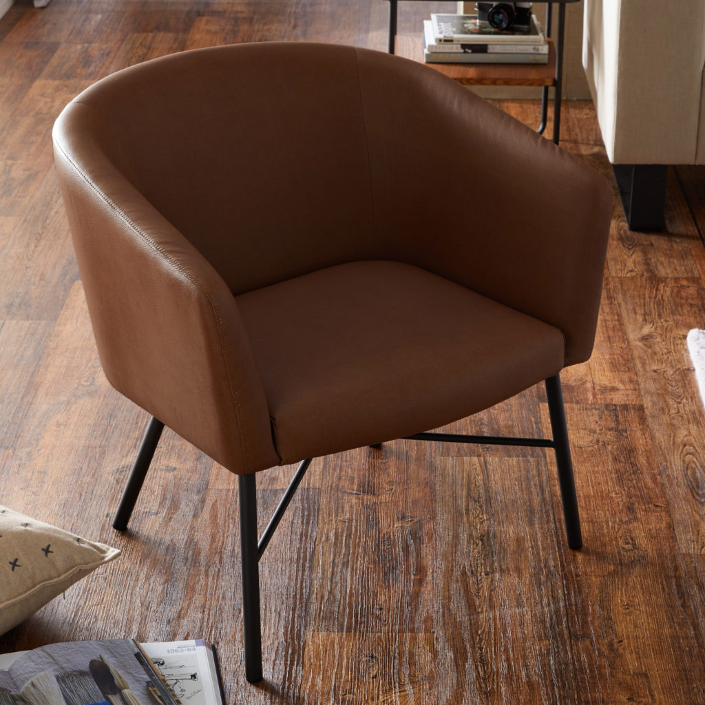 Industrial Zoe Lounge Chair, Multiple  $279.00