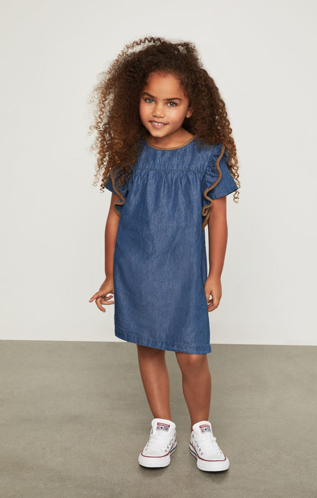 Ruffle A-Line Dress $34.00