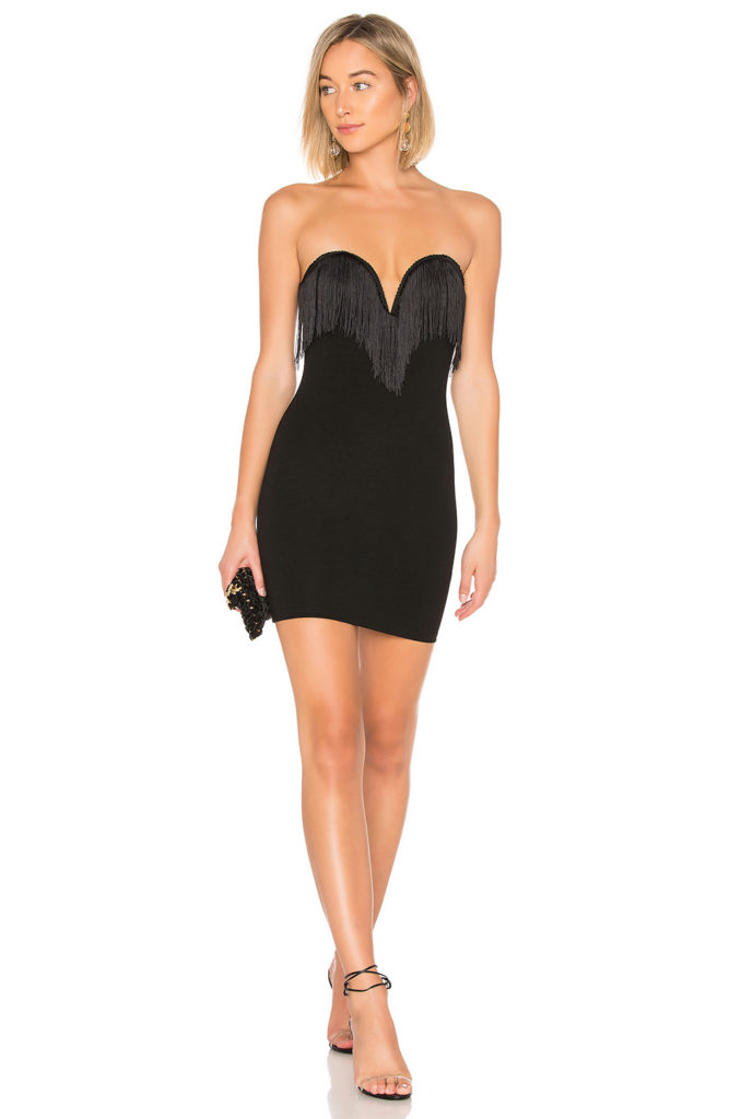 Sasha Strapless Fringe Dress  by the way.  $41
