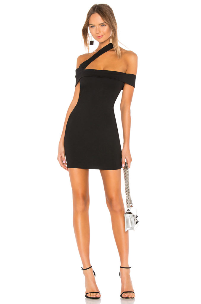 Linda Asymmetric Bodycon Dress superdown $66