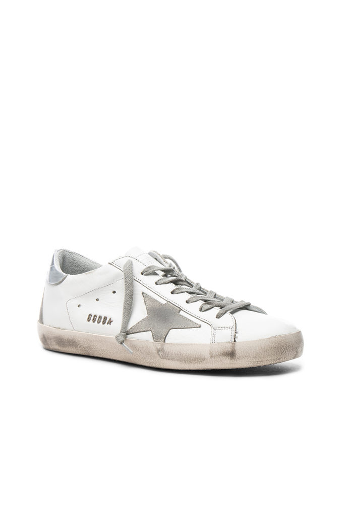 Leather Superstar Low Sneakers  Golden Goose $480