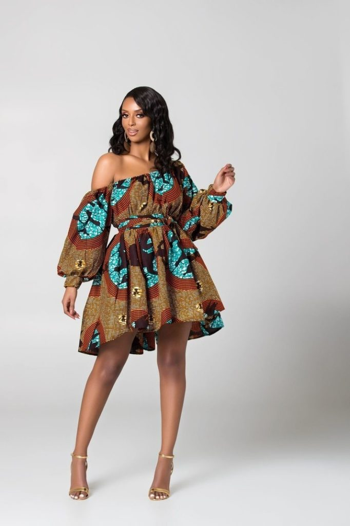 Limited Emilie African Print Dress $82.41