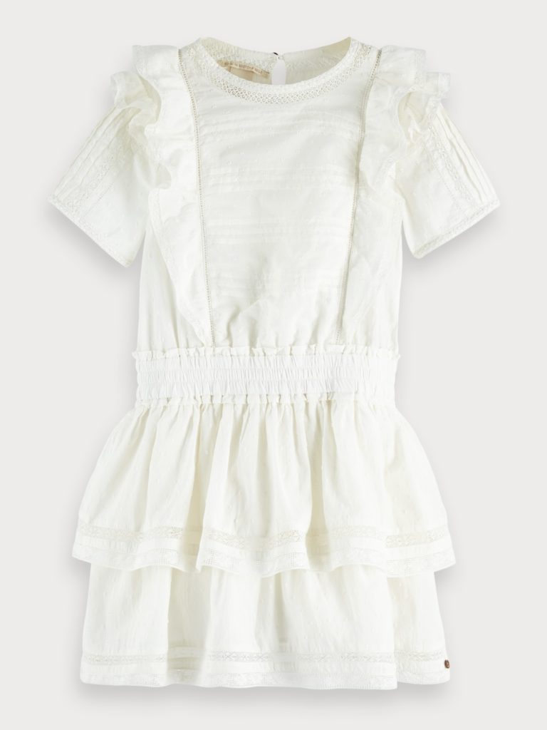 Ruffled Lace Detail Dress $104.00