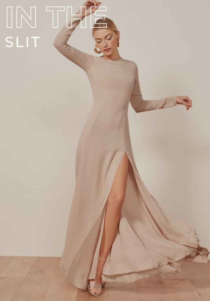 A SIMPLY SLIT ADDS A SULTRY TOUCH TO ANY LOOK