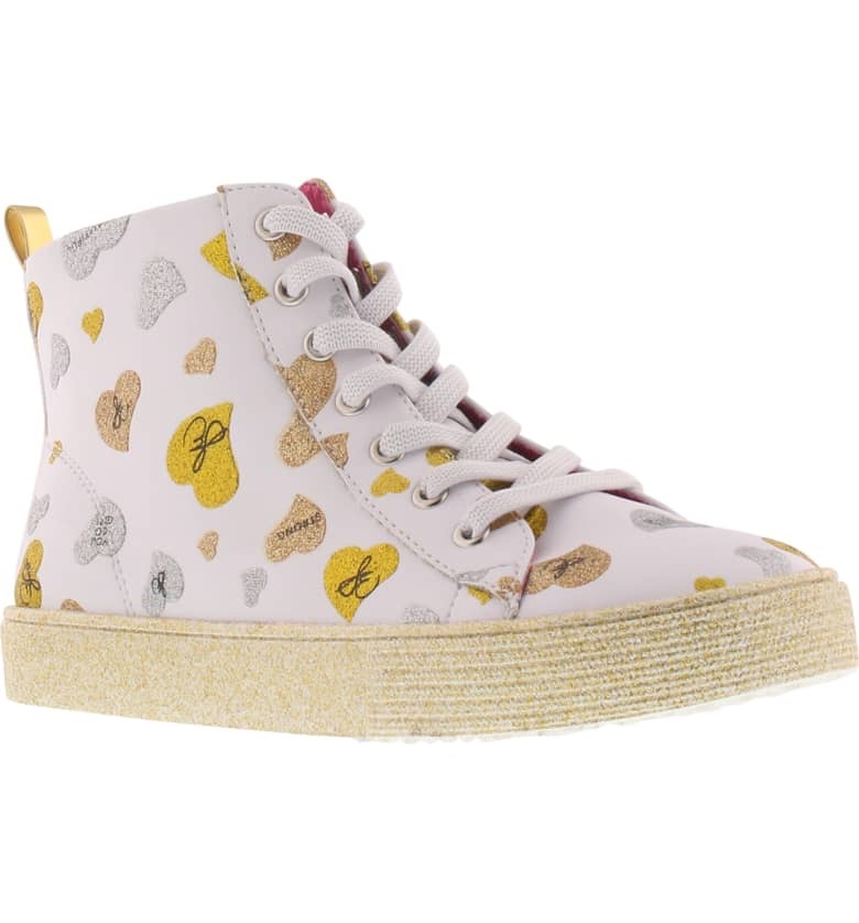 Bella Whimsical Glitter High Top Sneaker $59.00
