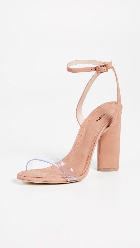 Schutz Geisy PVC Block Heel Sandals $180.00