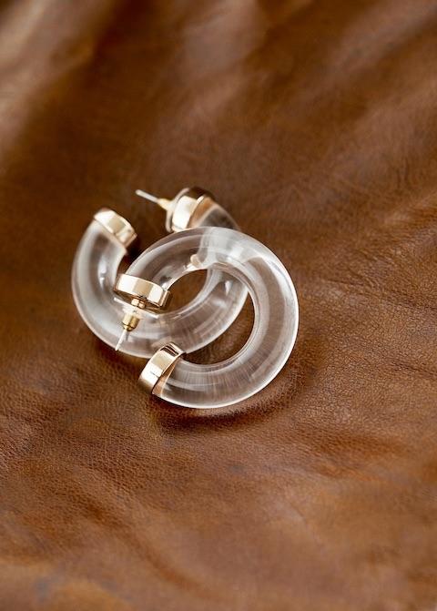 Transparent hoop earings $19.99