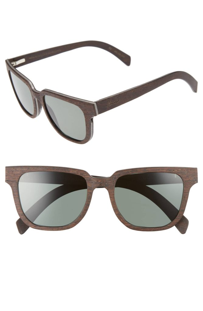 Prescott 52mm Polarized Walnut Wood Sunglasses $189.00