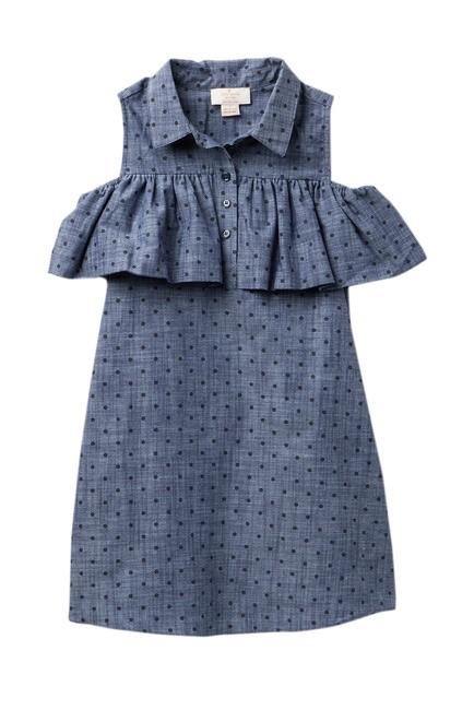 kate spade new york Ruffle Dot Chambray Dress $34.97