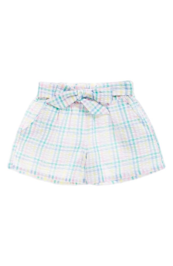 Plaid Seersucker Shorts SEED HERITAGE $30.00