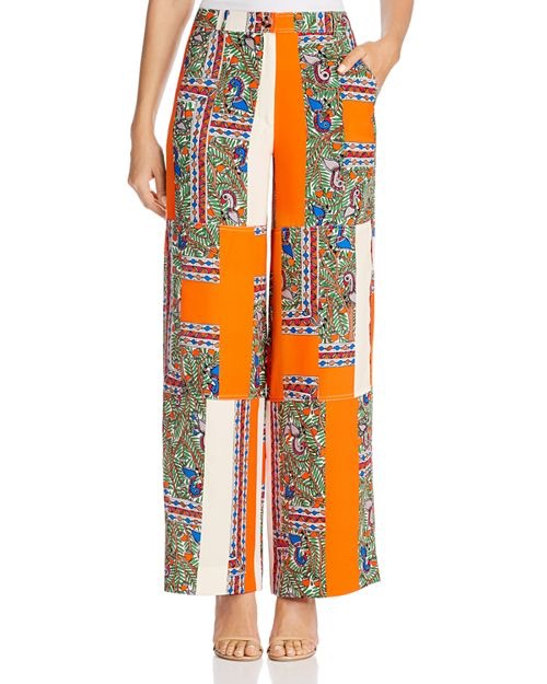 Tory Burch Sylvan Printed Silk Pants $495