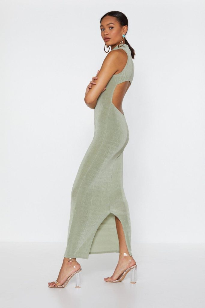Maxi Backless High Neck Dress $25.00