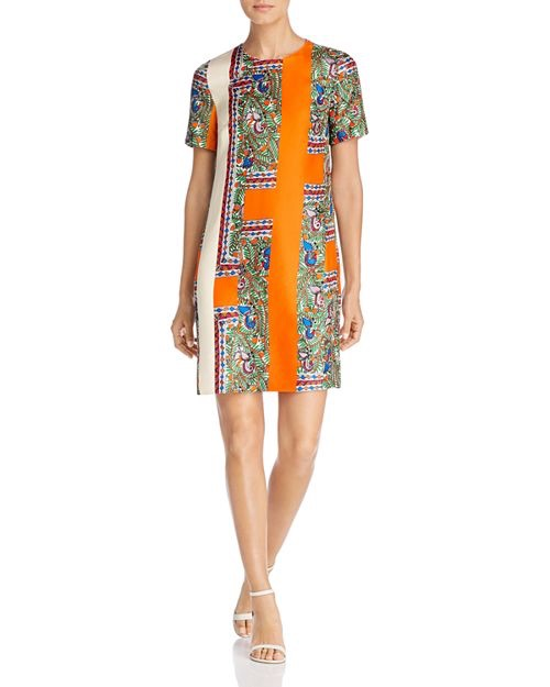 Tory Burch Mallory Printed Silk Dress $448