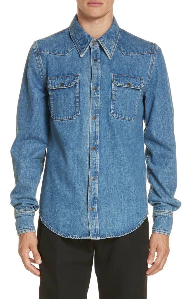 Denim Shirt CALVIN KLEIN 205W39NYC $590.00