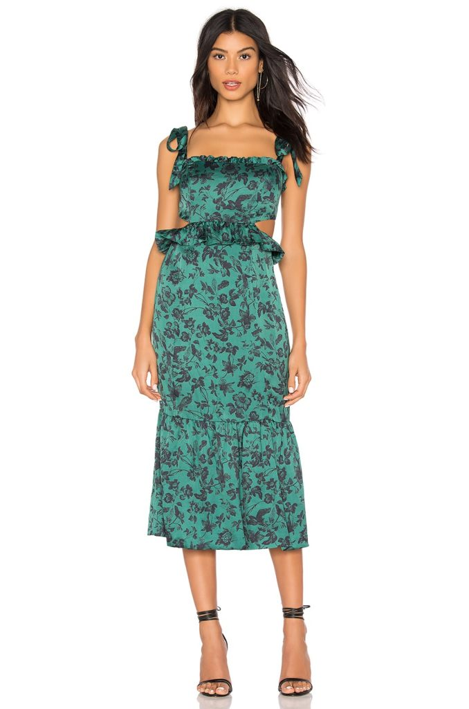 Francesca Midi Dress  MAJORELLE $258