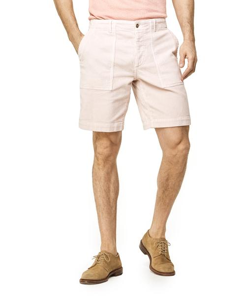 "9"" STRETCH ITALIAN CORDUROY CAMP SHORT IN PINK $168.00"