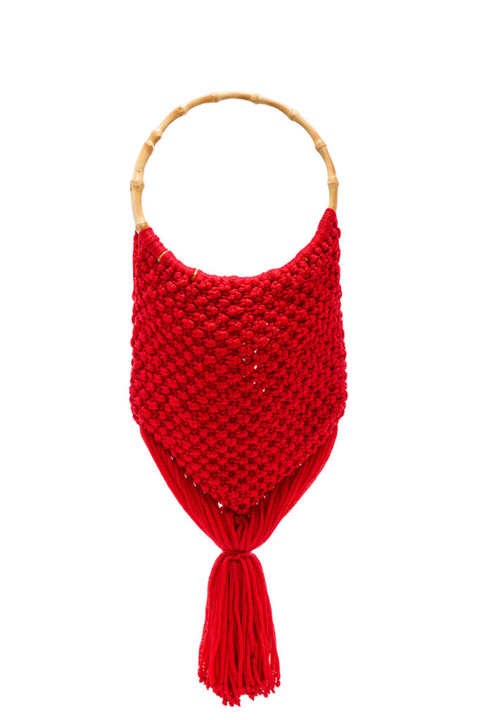 Macrame Bag with Bamboo Handle SENSI STUDIO $174.00
