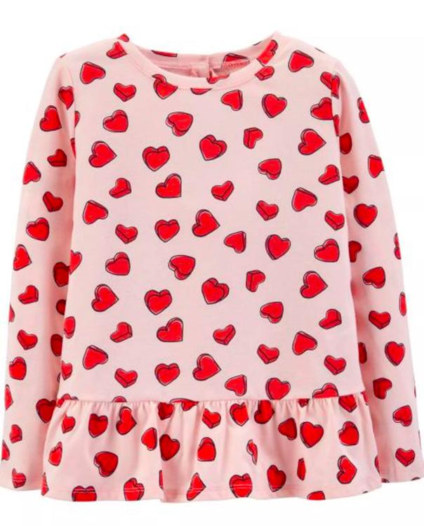 Heart Peplum Top $9.60