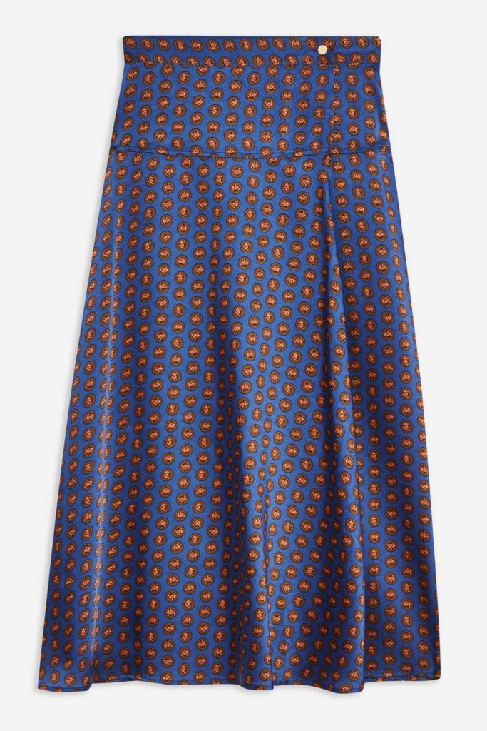 Horse Coin Wrap Midi Skirt $75.00