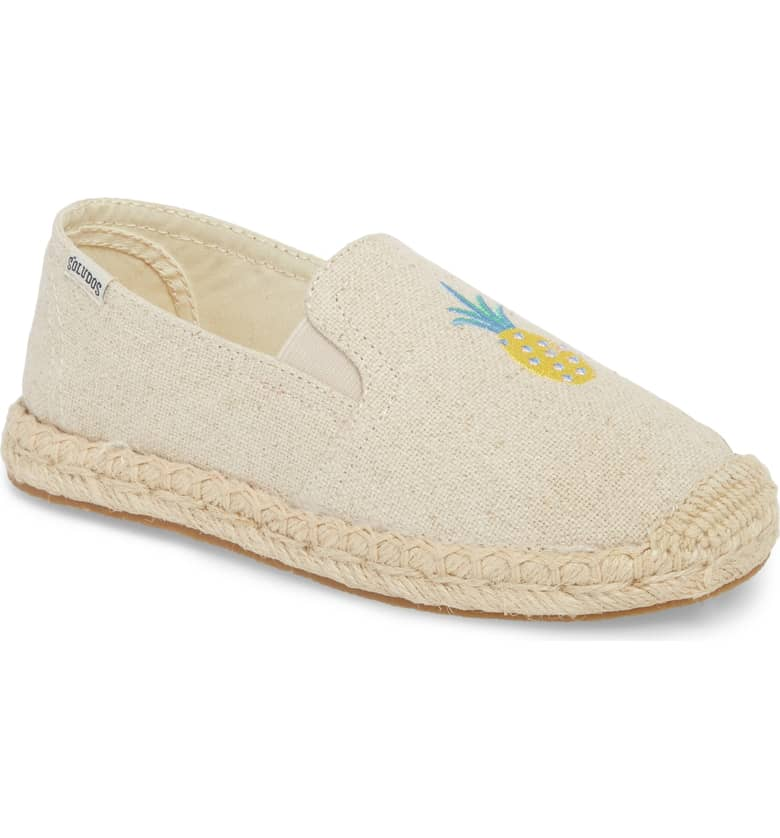 Pineapple Embroidered Espadrille SOLUDOS $44.95