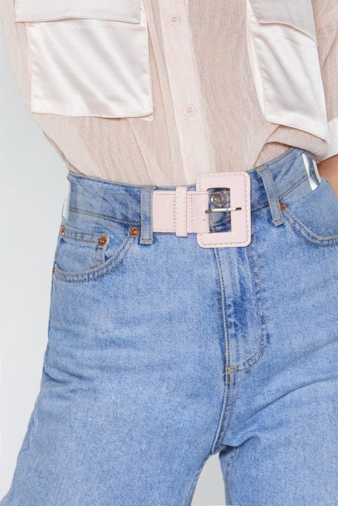 See It Through Clear Square Buckle Belt $10.00