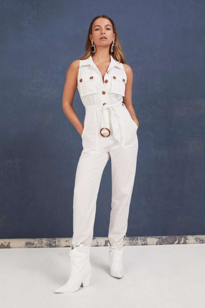 One Piece is All It Takes Belted Buttoned Jumpsuit $45.00