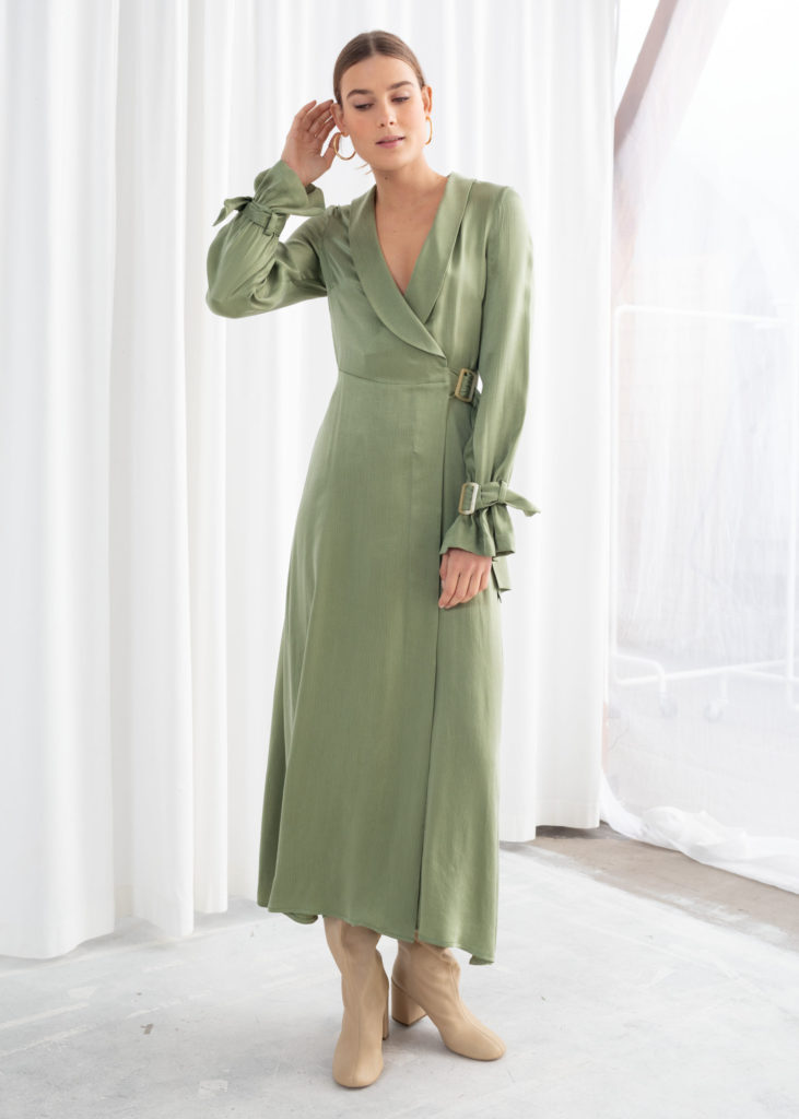 Belted Wrap Maxi Dress $129