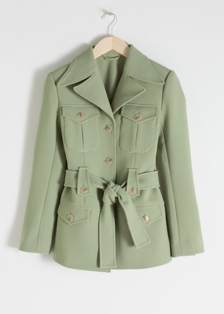 Structured Belted Workwear Jacket $129