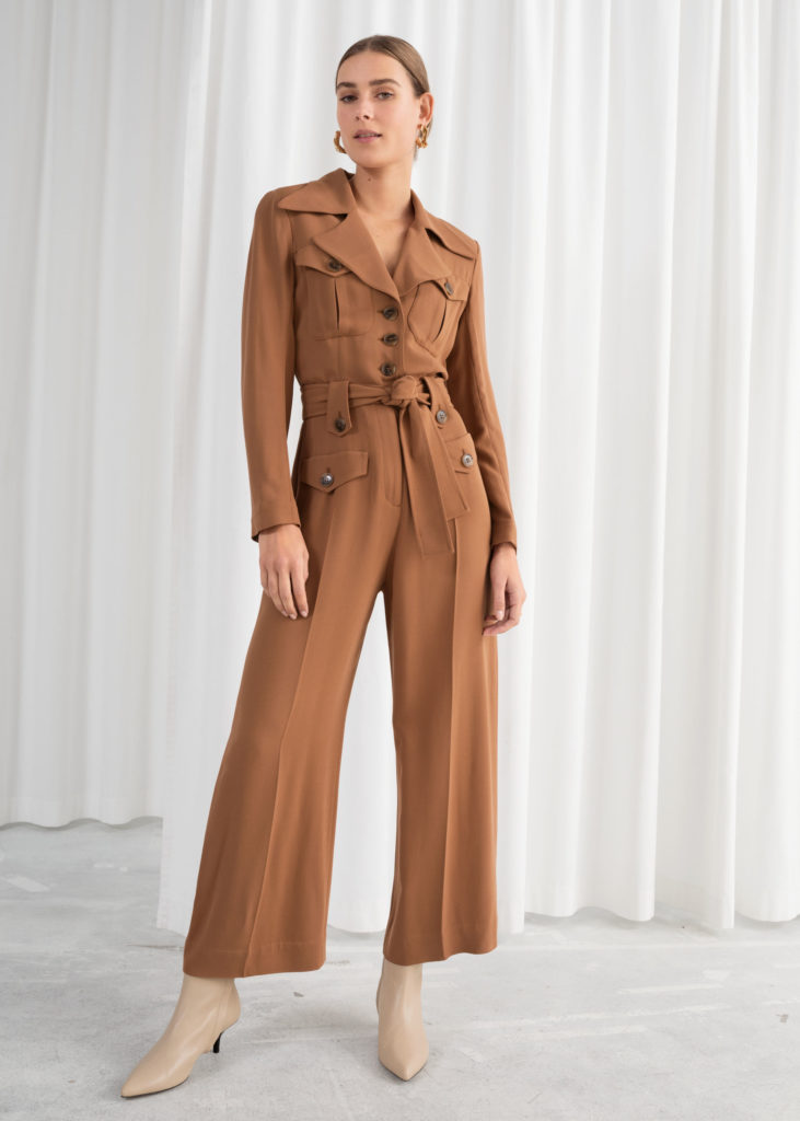 Belted Workwear Jumpsuit $129
