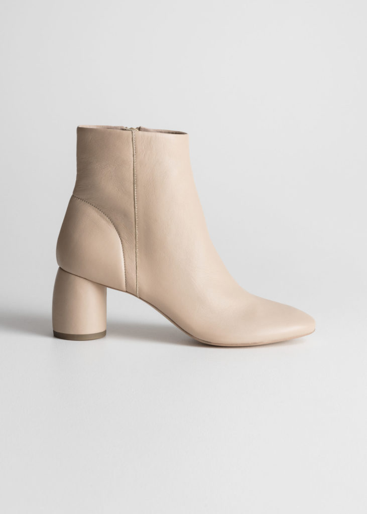 Cylinder Heel Ankle Boots $179