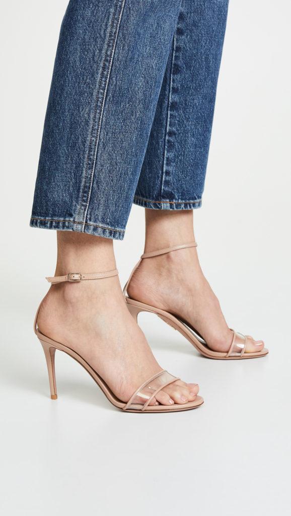 Aquazzura Minimalist 85 Sandals $650.00