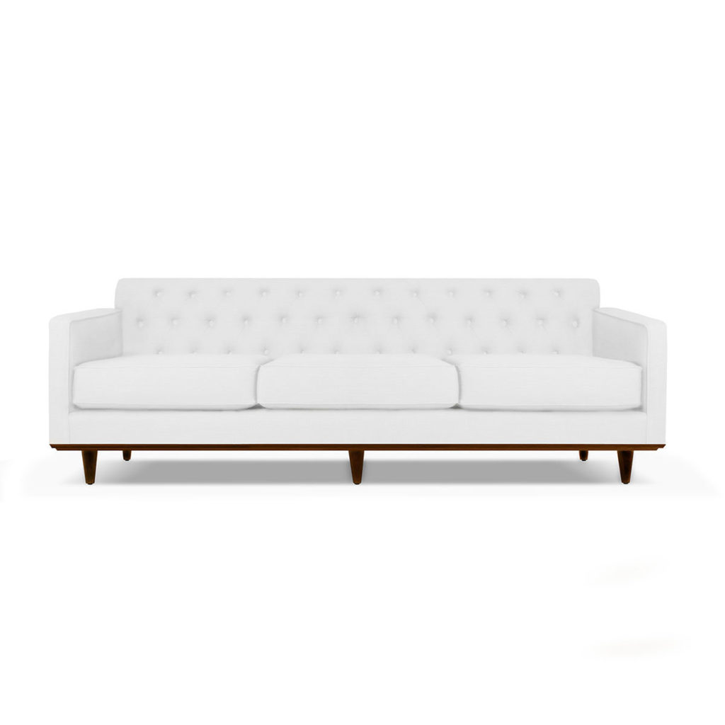 South Cone Home Kent Tufted Linen Sofa $1,128.57
